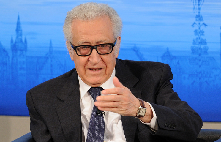 UN / Arab League Special envoy for Syria Lakhdar Brahimi