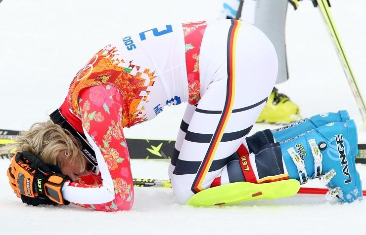Germany's alpine skier Maria Hoefl-Riesch