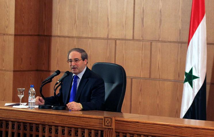 Syrian Deputy Foreign Minister Faisal al-Mekdad