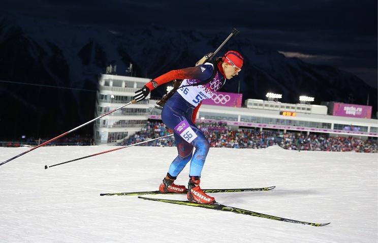 Russian biathlete Olga Vilukhina