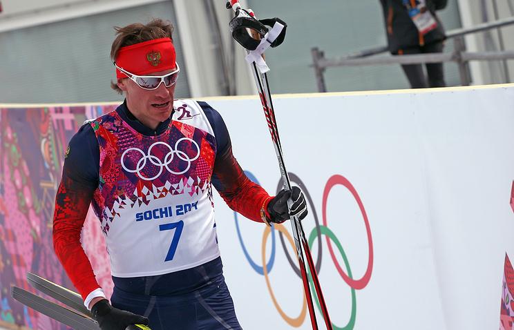 Maxim Vylegzhanin after his race