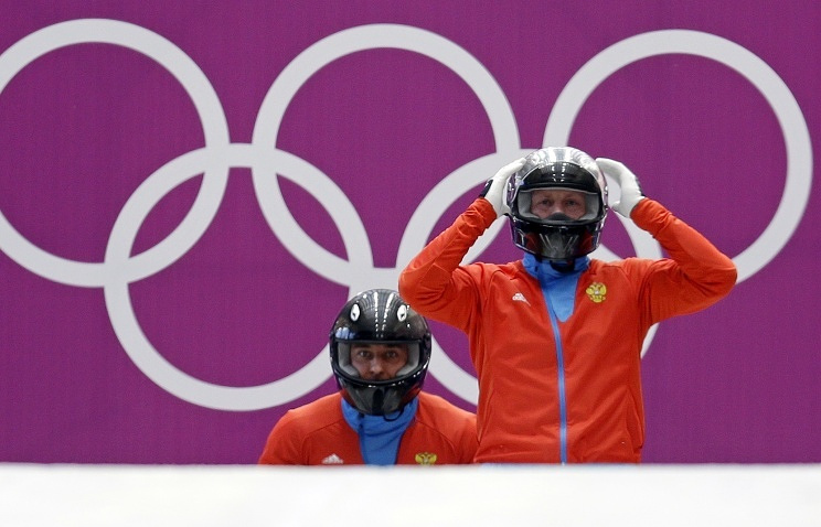 Russian bobsleigh pilots Alexander Zubkov and Alexei Voyevoda