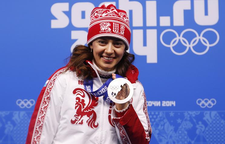 Russian biatlete Olga Vilukhina