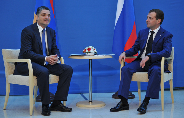 Tigran Sarkisyan and Dmitry Medvedev