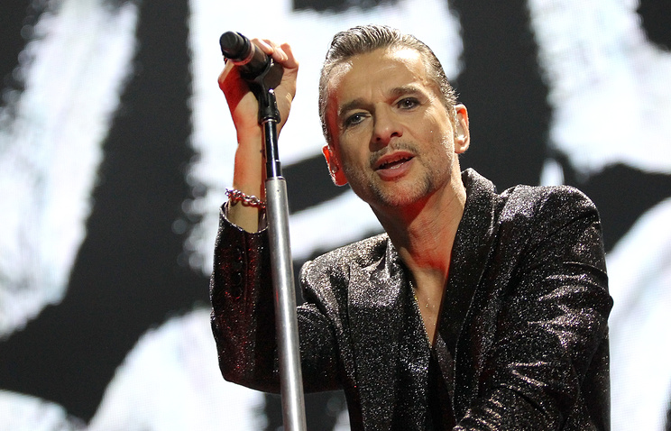 Lead singer Dave Gahan of Depeche Mode