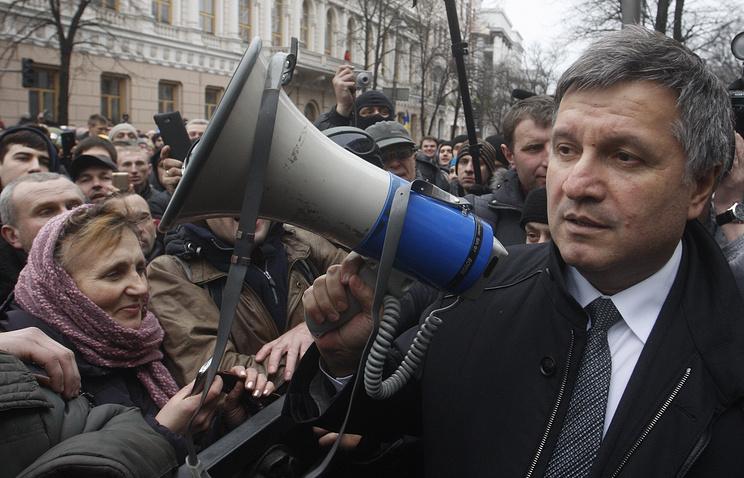Ukrainian acting Interior Affairs Minister Arsen Avakov