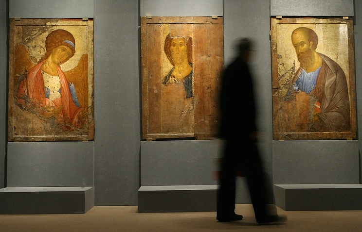 An exhibition of icons by Andrei Rublev (archive)