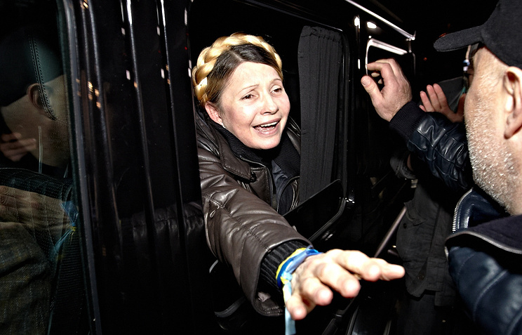 Yulia Tymoshenko on release from prison
