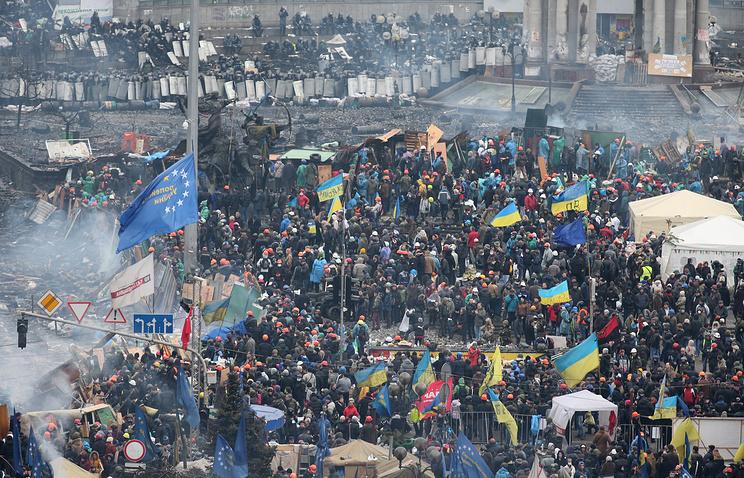 Independance square in central Kiev (archive)
