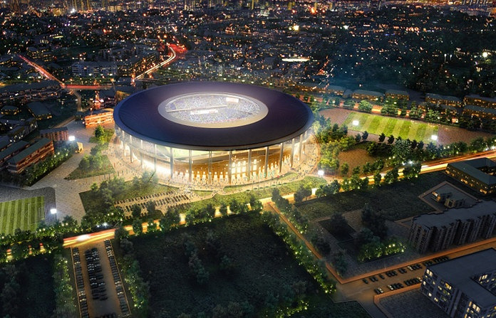 General view of the proposed new FIFA World Cup Stadium Yekaterinburg