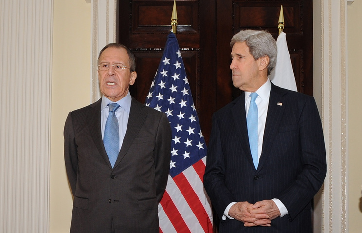 Sergei Lavrov and John Kerry