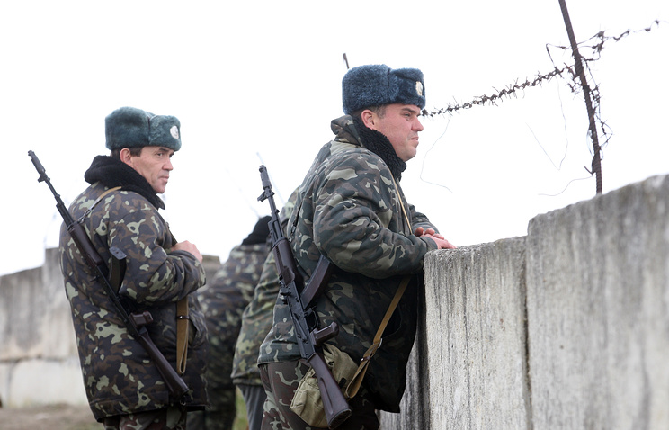 Ukrainian troops in Crimea