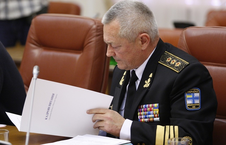 Parliament-appointed Ukrainian Defense Minister Ihor Tenyukh