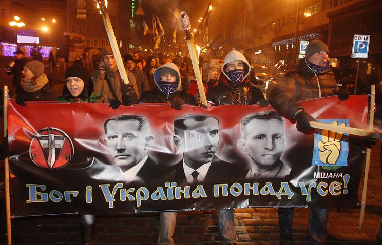 Nazi march in Kiev