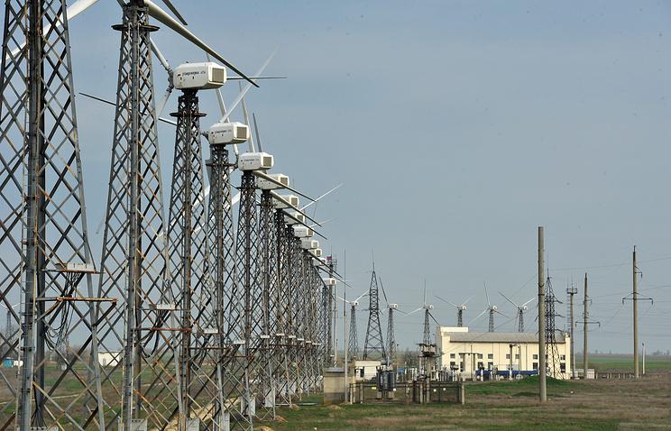 Crimean wind power plant