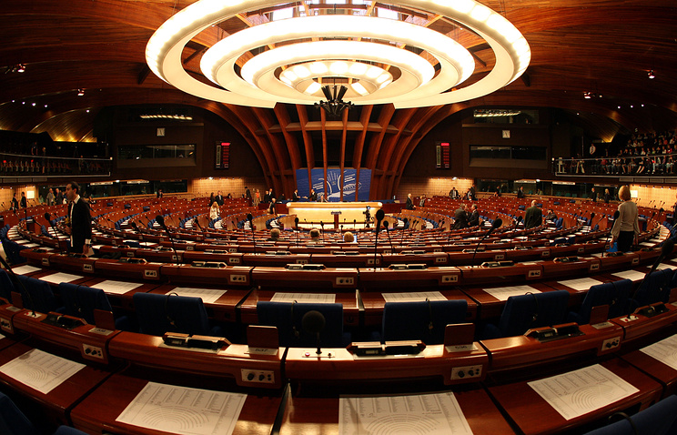 General view of the room of the Council of Europe in Strasbourg (archive)