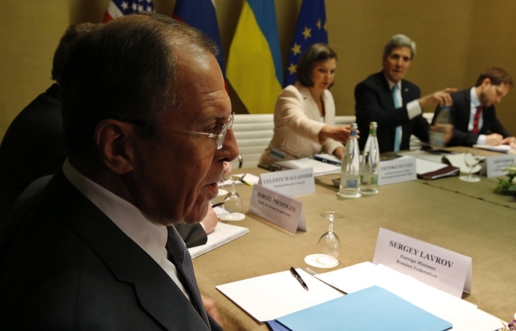 Meeting of foreign ministers representing Russia, the US, the EU and Ukraine in Geneva