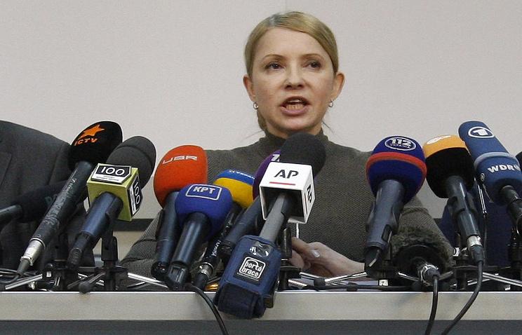 Ukraine's former prime minister Yulia Timoshenko