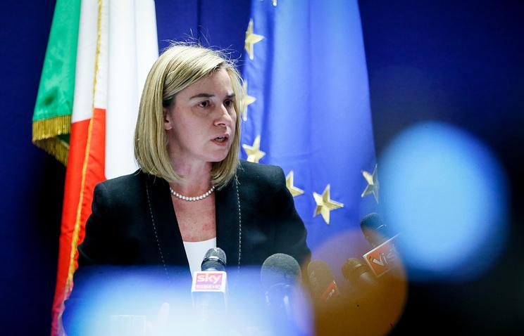 Italian Foreign Minister Federica Mogherini