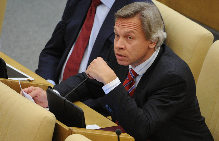 Head of the State Duma's Foreign Affairs Committee Alexei Pushkov