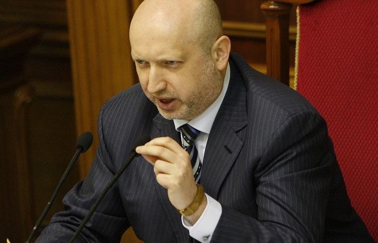 Ukraine's parliament-appointed interim President and Verkhovna Rada Speaker Oleksandr Turchynov