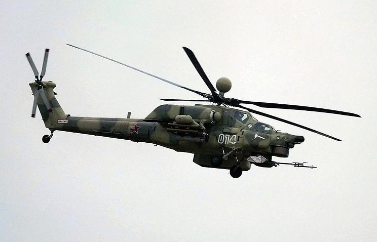Russian military helicopter MI-28NE