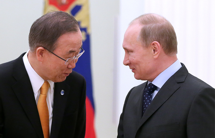 Ban Ki-moon and Vladimir Putin (archive)