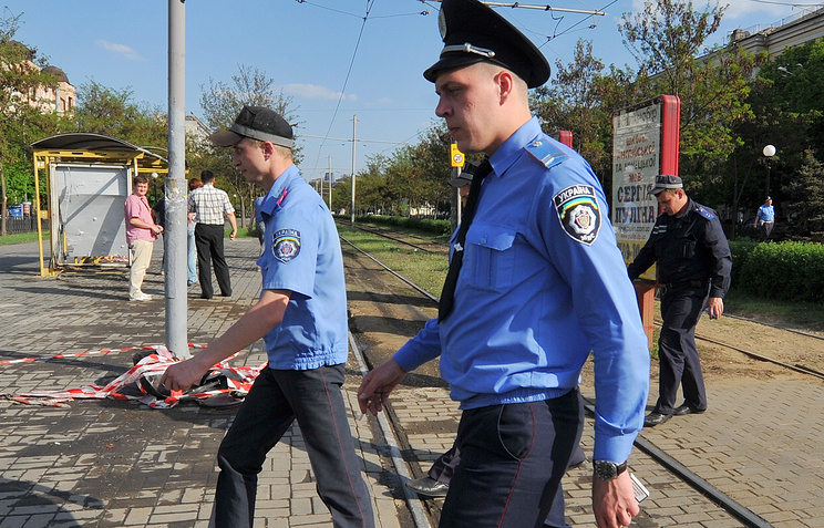 Ukrainian policemen seen in Dnipropetrovsk (archive)