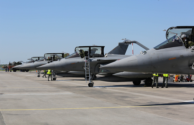 Fighter jets seen during NATO Baltic Air Policing in Poland