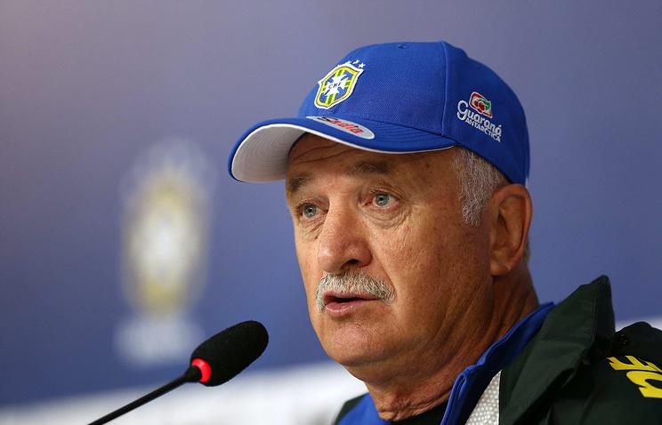Brazil team's coach Luiz Felipe Scolari