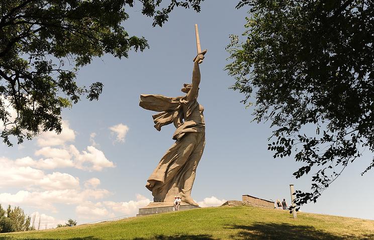 The Motherland Calls Monument in Volgograd