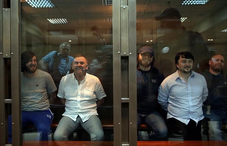 Rustam Makhmudov, Lom-Ali Gaitukayev Ibragim and Dzhabrail Makhmudov, Sergei Khadjikurbanov