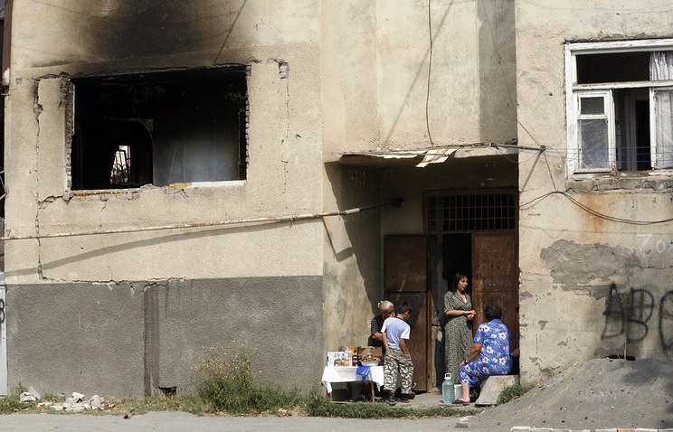 In a street of South Ossetia's Tskhinval