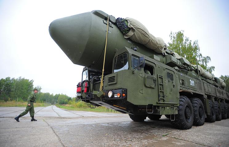 Yars intercontinental ballistic missile