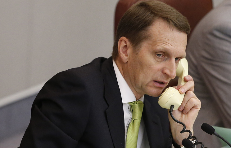 Speaker of Russia's State Duma Sergei Naryshkin