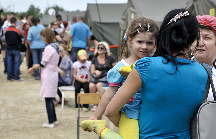 Ukrainian refugees in Russia's Rostov Region
