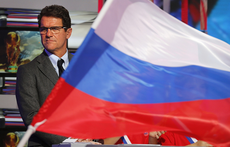 Russian national football team head coach Fabio Capello