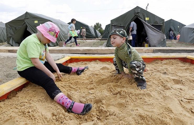 Refugee camp in Rostov region