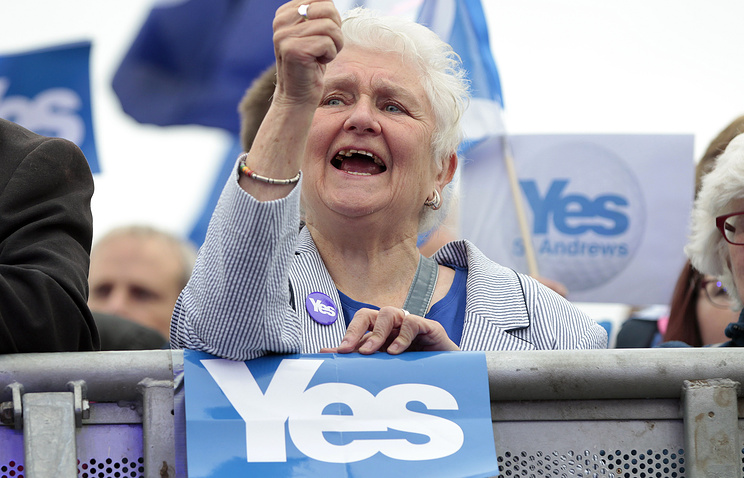 A supporter of independence for Scotland (archive)