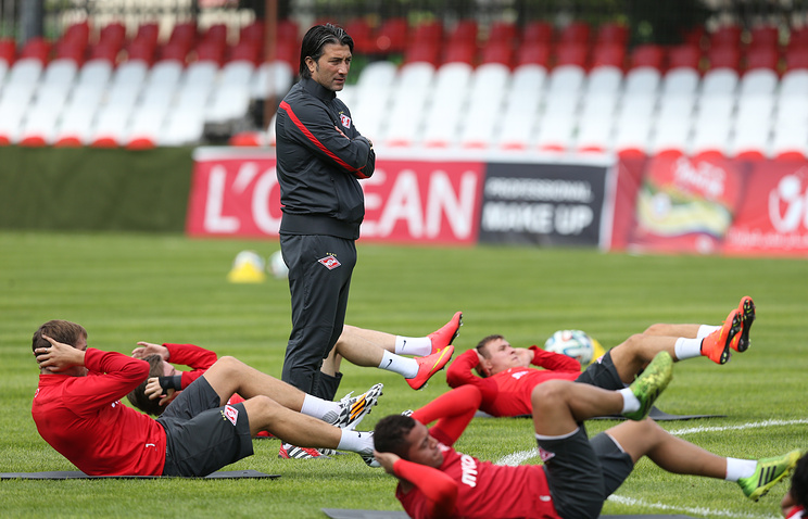 Spartak Moscow training session