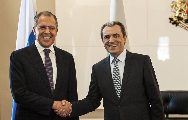 Russian Foreign Minister Sergei Lavrov and Bulgarian Prime Minister Plamen Oresharski, Jul. 7