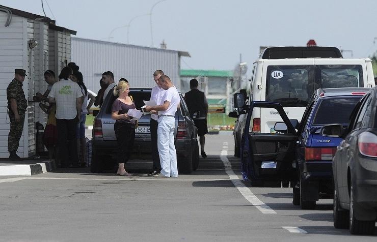 Russia's Novoshakhtinsk multi-way border-crossing point to Ukraine