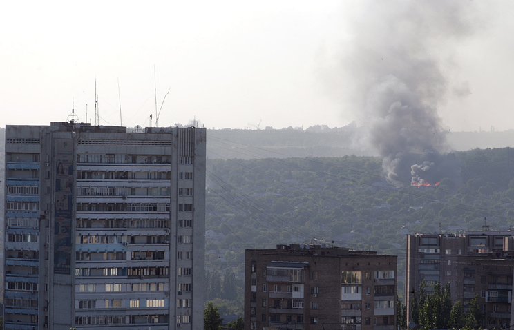 Consequences of Luhansk shelling on July 1 (archive)
