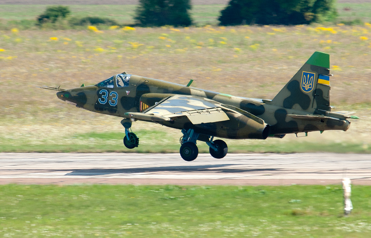 Ukrainian Su-25 attack aircraft