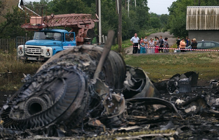 Malaysian Airlines Boeing crash site