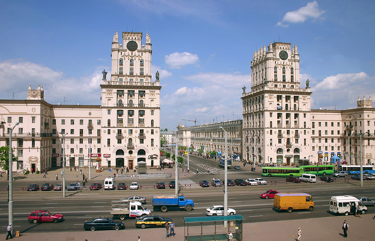A view of central Minsk