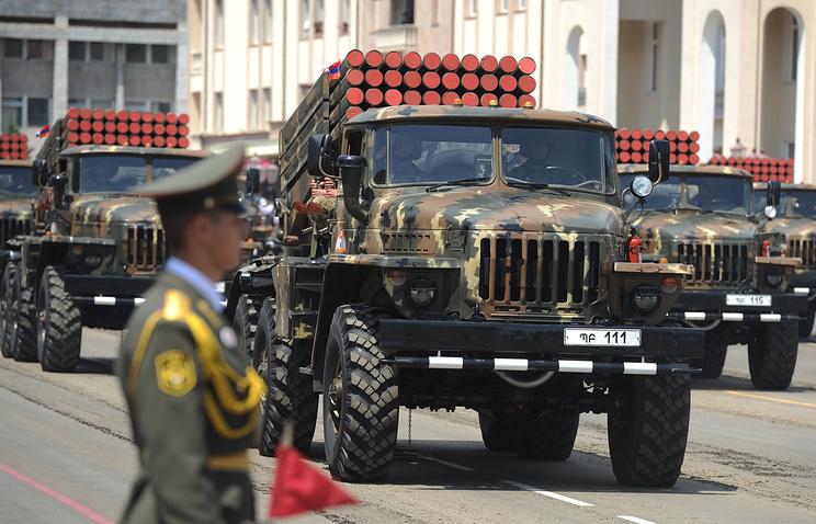 Military parade in Nagorno Karabakh