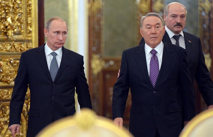 Vladimir Putin, Nursultan Nazarbayev and Alexander Lukashenko
