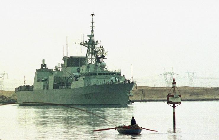 Canadian Navy's HMCS Toronto frigate
