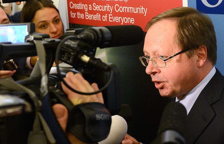 Russia's Ambassador to OSCE Andrei Kelin